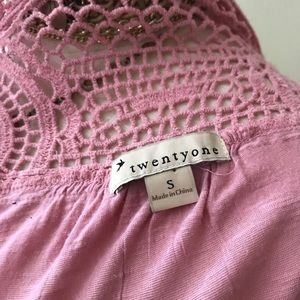 Forever 21 Tops - TWENTY ONE tunic top shirt sleeve pink